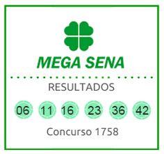 Loterias - ultimos resultados Mega Sena, concurso 1758 de 07 de novembro de 2015