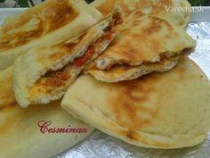 Kıymalı Bazlama (fotorecept) - Recept Turkish Recipes, Ethnic Recipes, Eastern European Recipes, Flatbread Pizza, Street Food, Ale, Breakfast, Flat Bread, Indie