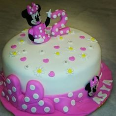 #minnie #mouse #birthdaycake