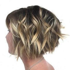 Chopped Brown Bob With Highlights