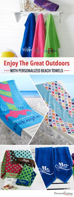 If You Re Searching For The Hottest Gift Ideas This Summer Look No Further Than Personalized Beach Towels From Personalization Mall