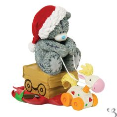 Tatty Teddy figurine Giddy Up, come and take a look at our Me to You christmas range for 2013, Perfect gift for any collector of Me to You.  Fast Uk delivery, Free Delivery over £50.00