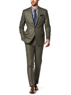 Sage new luxury flannel suit from J. Hilburn