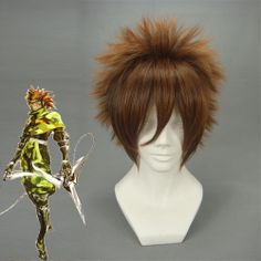 Short Straight Devil Kings SARUTOBI SASUKE Brown Anime Cosplay Wig Free Shipping Hot High Temperature Resistant Fiber COS-011H-2