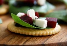Goat Cheese Beets Ritz Cracker Appetizer | Skimbaco Lifestyle | online magazine