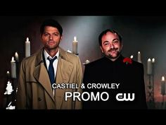 "Castiel and Crowley remind us to tune in to the new season! Haha, ""Do not listen to this man. Except about the Tuesday thing."""