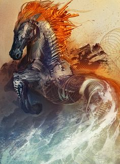 Modern Esoteric Art And Symbolism - Android Jones - Bronco Android Jones, Year Of The Horse, Soul Art, Visionary Art, Psychedelic Art, Canvas Art Prints, Fantasy Art, Woods, Concept Art