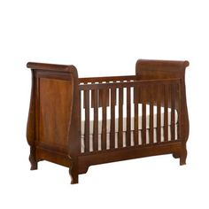 Young America Grand Sleigh Crib in Rustic Cherry Antique wood stain finish as seen in the July 2012 Pregnancy & Newborn magazine