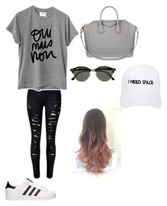 """""""Sans titre #269"""" by israa-samraa on Polyvore featuring mode, adidas, WithChic, Sincerely, Jules, Givenchy, Ray-Ban et NASASEASONS"""