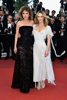 """Valeria Golino and Vanessa Paradis - """"The Last Face"""" Premiere - 2016 Cannes Film Festival - HarpersBAZAAR.com"""