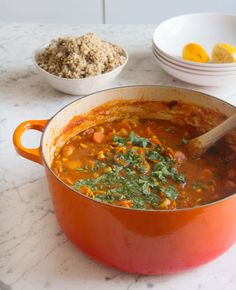 Mushroom & Chickpea stew - Deliciously Ella