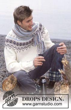 Maglione e sciarpa DROPS in Karisma Superwash o in Merino Extra Fine. ~ DROPS Design