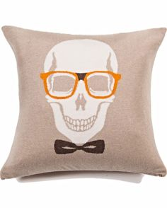 Image of Rani Arabella Skull Bow Cashmere Pillow