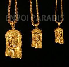 Gold iced Jesus piece Jesus Piece, Arrow Necklace, Gold Necklace, Designer Consignment, Metals, Jewlery, Pendant, Modern, Diy
