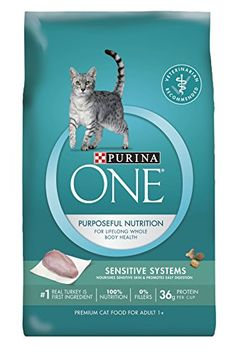 Purina ONE Sensitive Systems Adult Premium Cat Food  6 35 lb Bags ** Click image for more details.