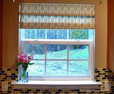 Faux roman shades with tension rods