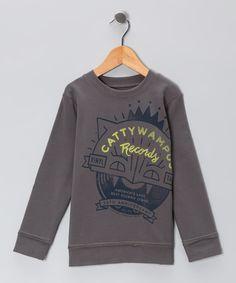 Steel Gray 'Cattywampus' Sweatshirt - Toddler & Boys