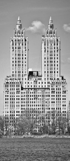 San Remo building, 145 Central Park West  This famous twin-towered apartment building has large terraces overlooking Central Park atop its base between the towers.