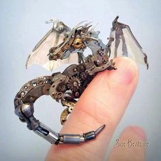 Made of old watch parts! So cute! :3