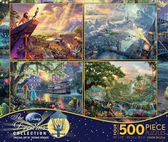Ceaco 4-in-1 Multi-Pack Thomas Kinkade Disney Dreams Collection Jigsaw Puzzle � The Toy Shop