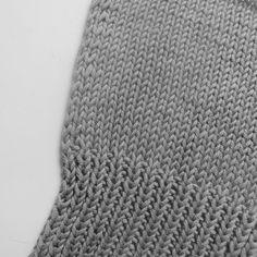 Schöne Randmaschen und Bündchen bei Baumwolle stricken