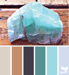 {mineral hues} image via: @designseeds