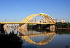 I-471 Bridge affectionately know as the Big Mac Bridge because of it's Golden Arches - Cincinnati, Ohio.  The real name is the Taylor-Southgate Bridge connecting Cincinnati to Newport, KY