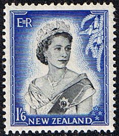 New Zealand 1953 Queen Elizabeth SG 733 Fine Mint SG 733 Scott 298 Other New Zealand Stamps HERE