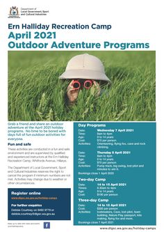 Ern Halliday Outdoor Adventure April 2021 Fun Outdoor Activities, Outdoor Fun, Aboriginal History, Holiday Program, What Is Work, Holiday Day, Minute To Win It, Western Australia, Perth