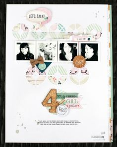 #papercraft #scrapbook #layout.  *four* by JanineLanger at @Studio_Calico