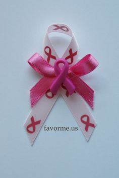 """2.75"""" x 1.75"""" Breast Cancer Awareness Pin On Favors. Set of 12."""