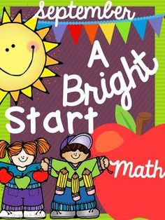September Morning Bright {Kindergarten Math Morning Work}