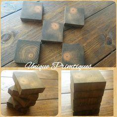Reclaimed Wood COASTERS By Unique Primtiques by UniquePrimtiques