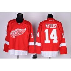 Reebok Detroit Red Wings #14 Gustav Nyquist Red Ice Stitched Hockey Jersey_Gustav Nyquist Jersey
