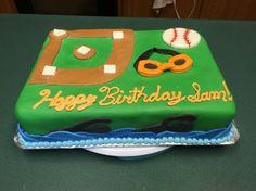 Baseball/swimming cake