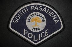South Pasadena Police Patch, Los Angeles County, California (Current 1998 Issue)
