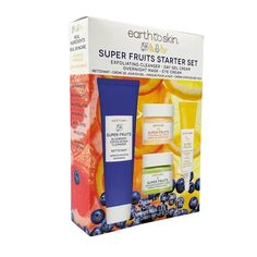 SUPER FRUITS – earthtoskin Skin Products, On Set, Cleanser, Cream, Fruit, Creme Caramel, Cleaning Agent, Skin Care Products