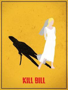 Kill Bill poster. Bride and Black Mamba shadow