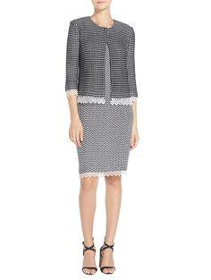 Textural Grid Knit Jacket