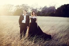 I know black wedding dresses arent the norm but you have to admit it looks great!