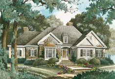 2570 sq ft Country Exterior - Front Elevation Plan #429-333