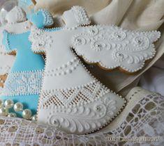 пряник ангел - Поиск в Google Angel Cookies, Sweet Cookies, Iced Cookies, No Bake Cookies, Cake Cookies, Sugar Cookies, Christmas Desserts, Holiday Treats, Christmas Cookies
