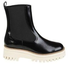 Paloma Barceló Women's Black Patent Leather Ankle Boots.