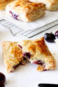 Cherry and Brie Puff Pastry Hand Pies | Today We Bake