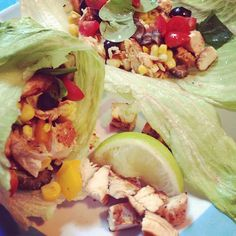 Healing Through Whole Foods Challenge: Day 1 - I'm recapping my meals daily to help give you guys some healthy eating inspiration! Pictured here: Lime Chicken Veggie Lettuce Wraps (Click to see what else I ate yesterday!)