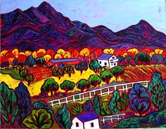 Barbara Gurwitz, Paintings at Wilde Meyer Gallery in Scottsdale and Tucson. Santa Cruz Autumn