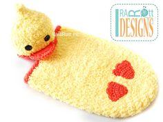 Duck Hat & Cocoon Set Crochet Pattern by IraRott