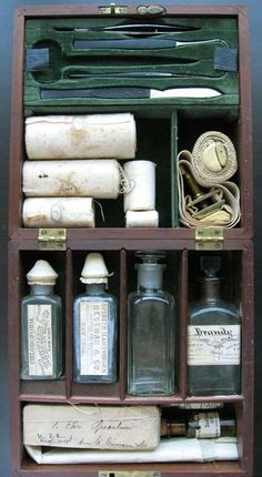 Doctor's kit from the American Civil War.