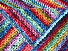 Granny Stripe Pattern from Attic24 is one of the most popular free crochet patterns on Ravelry