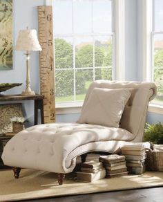 TUFTED CHAISE LOUNGER FOR READING NOOK IN BEDROOM.   #KIRKLANDS  #PINITPRETTY